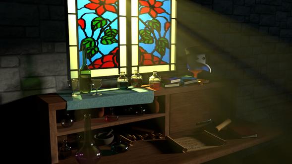 Volumetric Lighting & Composition study; made using Autodesk Maya & Arnold Renderer