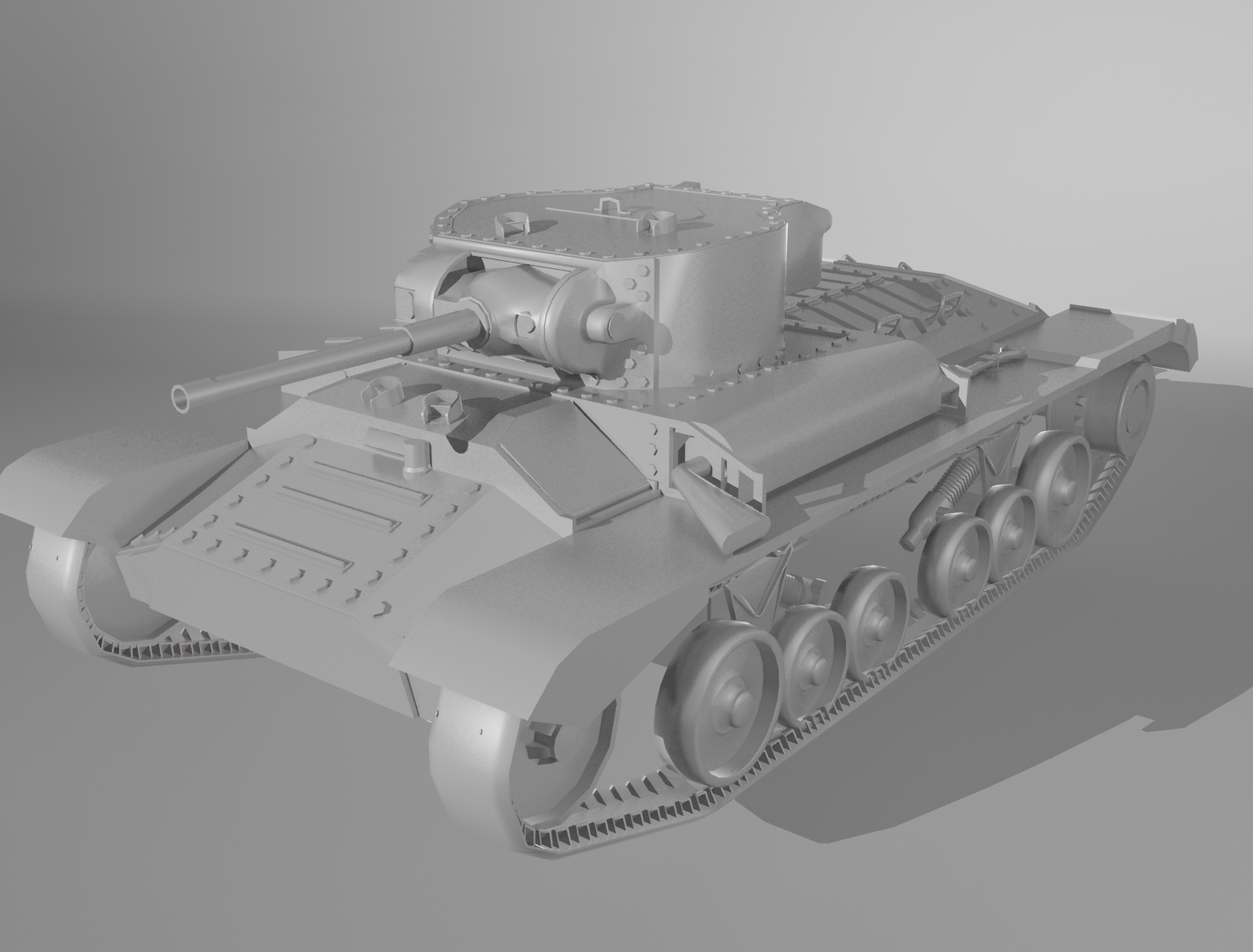 Tank_Low_Poly_Render_1