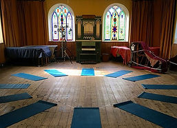The Old Chapel, set up for Harvest Festival