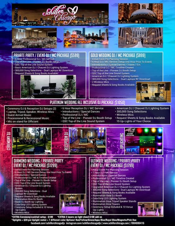 Schiller Chicago DJs - New DJ Packages & Service Menu!