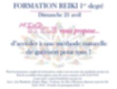 Flyer Formation Reiki Mindstyle Toulouse