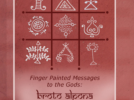 Finger Painted messages to the Gods - Broto Alponas of Bengal