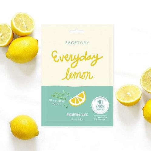 Everyday Lemon Brightening Sheet Mask - Face Tory