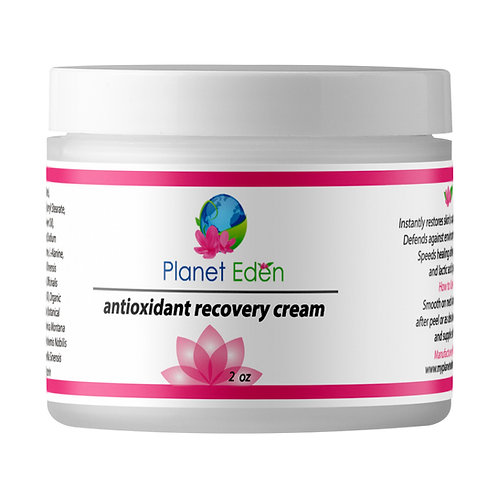 Planet Eden Antioxidant Recovery Cream for Skin Peels and Daily Use