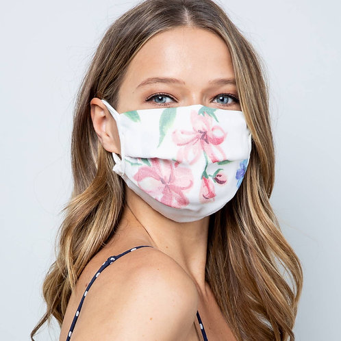 Watercolor Floral Double Layer Face Mask - COMING SOON!