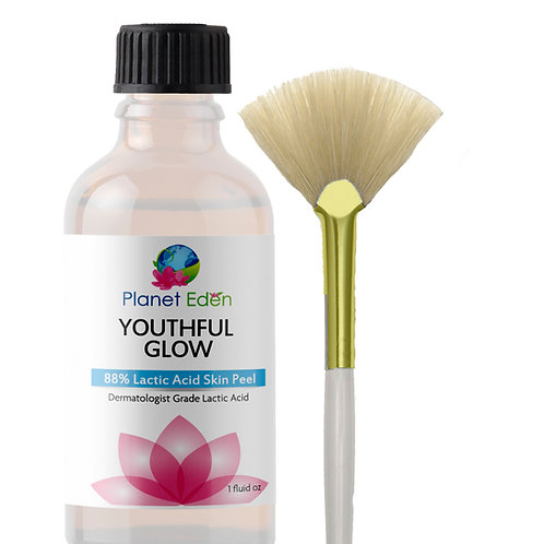 Planet Eden 40%-88% Lactic Acid Peel with Fan Brush - Clinical Strength