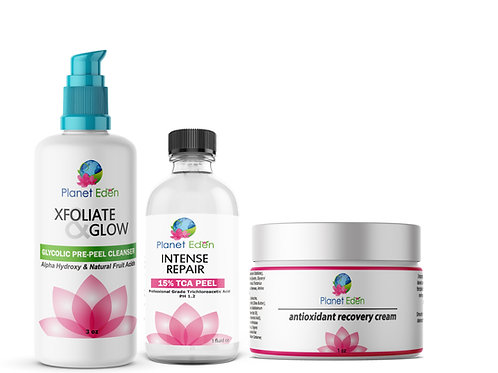 15% TCA Skin Facial Peel- Glycolic Pre-Peel Cleanser + Recovery Cream Ki