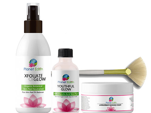 Glycolic Peel Kit with Neutralizer Peel and Antioxidant Recovery Cream