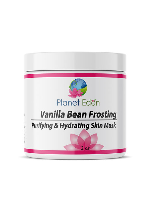Planet Eden Vanilla Bean Frosting Skin Facial Mask - Detox and Hydrate