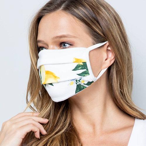 Lemon Unisex Double Layer Soft Cotton Blend Face Mask