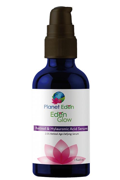 Planet Eden Eden Glow 2.5% Retinol and Hyaluronic Acid Serum for Wrinkles