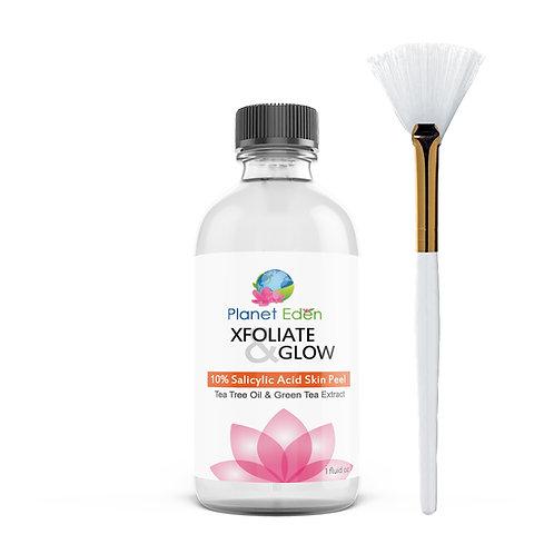 Planet Eden Xfoliate & Glow Salicylic Skin Peel for Fast Clearing of Acne
