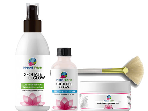 Lactic Acid Peel Kit with Neutralizer Peel and Antioxidant Recovery Cream