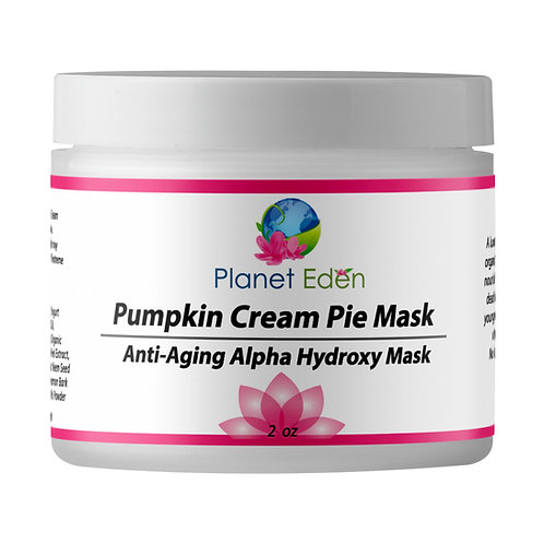 Planet Eden Pumpkin Cream Pie Alpha Hydroxy Mask with Glycolic & Lactic Acid