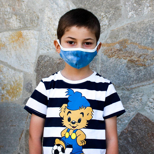 Kids Youth Unisex Tie-Dye Double Layer Soft Cotton Blend Face Mask