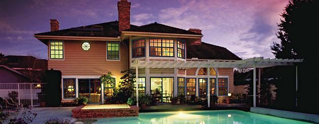 Beautiful home with wood windows