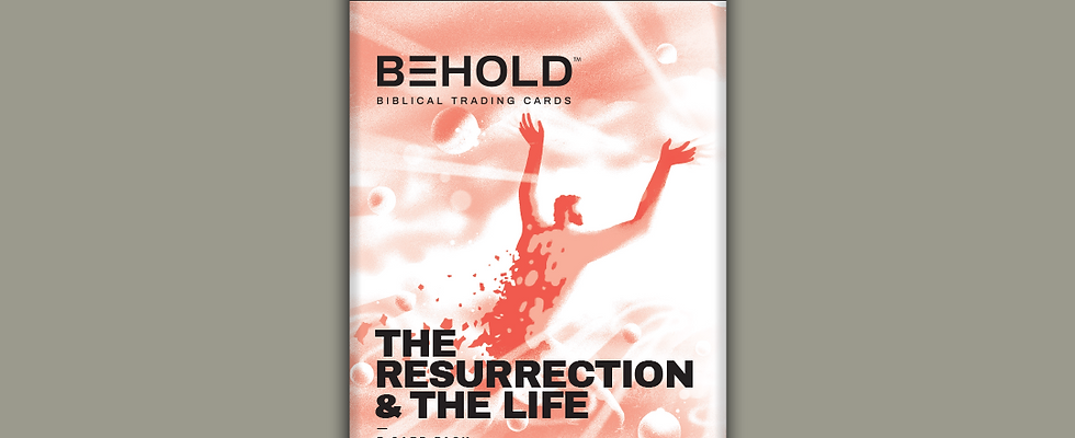 BEHOLD: The Resurrection & the Life • Booster Pack • 7 Assorted Trading Cards