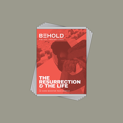 BEHOLD: The Resurrection & the Life • 5-Pack Bundle • 35 Assorted Trading Cards