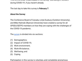 Survey: Well-being of workers during Covid-19