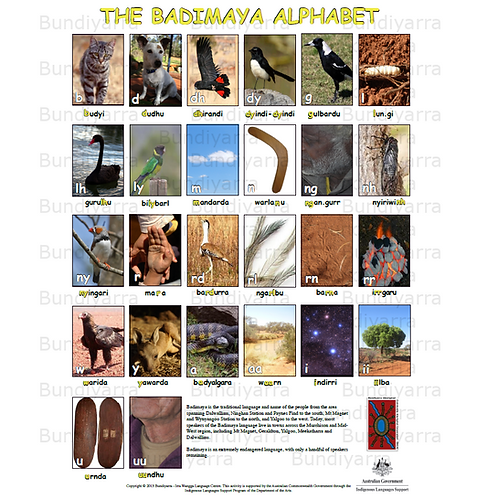 The Badimaya Alphabet