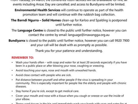 Bundiyarra temporary closure