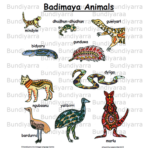 Badimaya Animals (topical poster)
