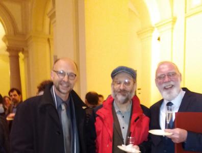 With Dr. Yedidya Robberechts and Prof. Stanislaw Krajewski