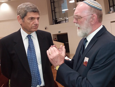 With Oren David, ambassador of Israel to the Holy See