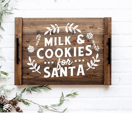 DIY: Cookies for Santa serving tray
