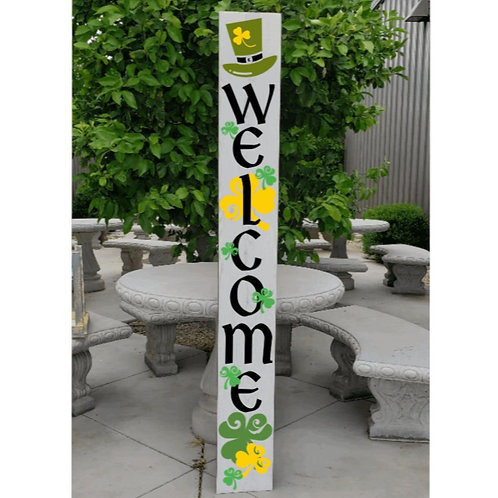 DIY: Welcome Shamrock Porch Board (Starting at $ 30.00)