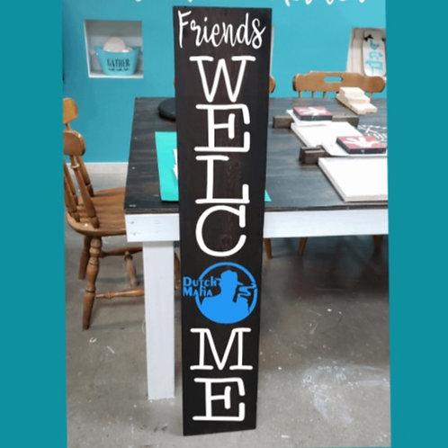 DIY: Friends Welcome Porch Board Dutch Bros (starting at $30.00)