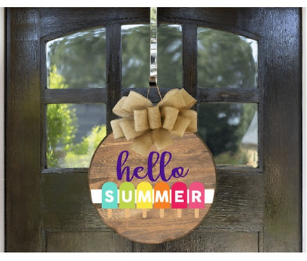 Hello Summer Popsicle Door round (starting at 35)