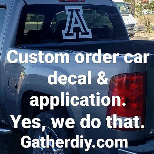 Car Decal (Starting at $5.00)