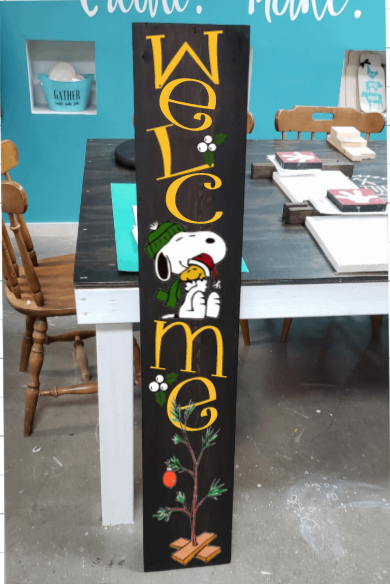 4ft Snoopy Welcome Porch Board