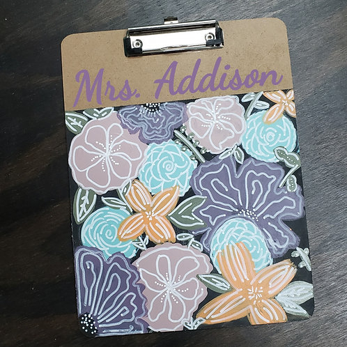 DIY: Floral Bouquet Clip Board (Personalized)
