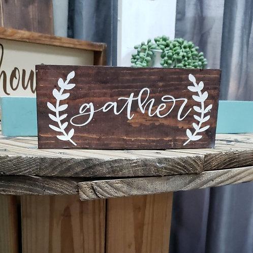 Gather wood block