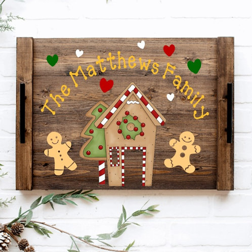 DIY: Gingerbread House Tray