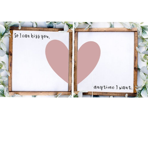 DIY: Two of Hearts Couple set