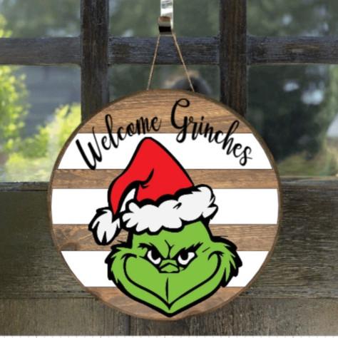 Sun 11/14 - Welcome Grinches door round