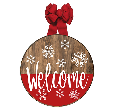 DIY: Holiday Welcome Door Round (Starting at $35.00)
