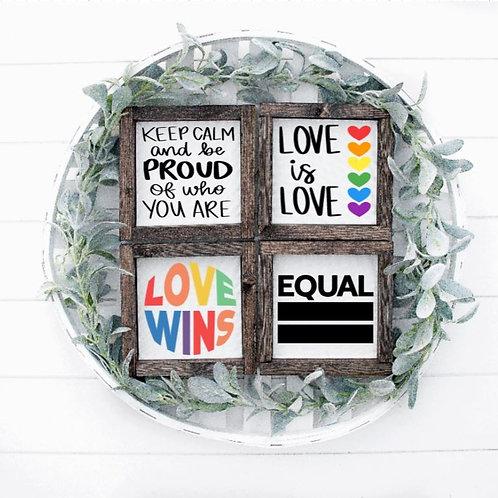 Love is Love PRIDE 4pc Mini Set (6x6 each)