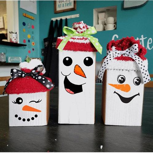 DIY: 3pc Holiday Character set (Starting at $25.00)