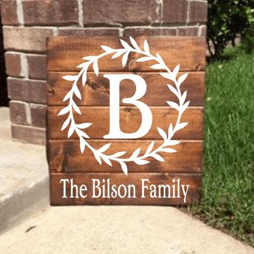 Family Name Slat Board (15x20)