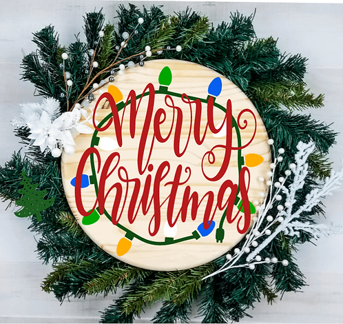 DIY: Merry Christmas lights round (Starting at $30.00)