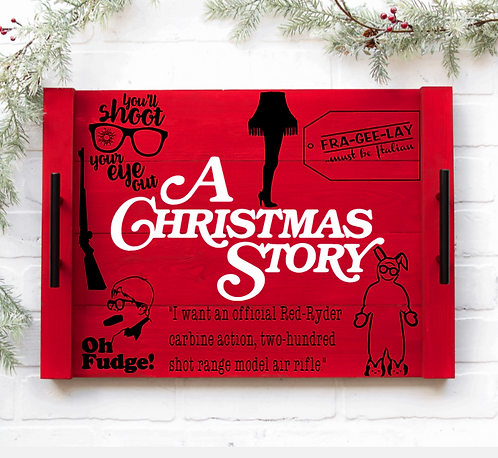 DIY: A Christmas Story Serving Tray