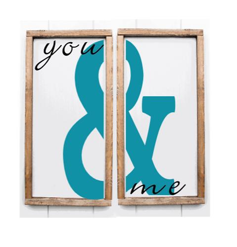 DIY: You & Me 2 piece set (16x16)