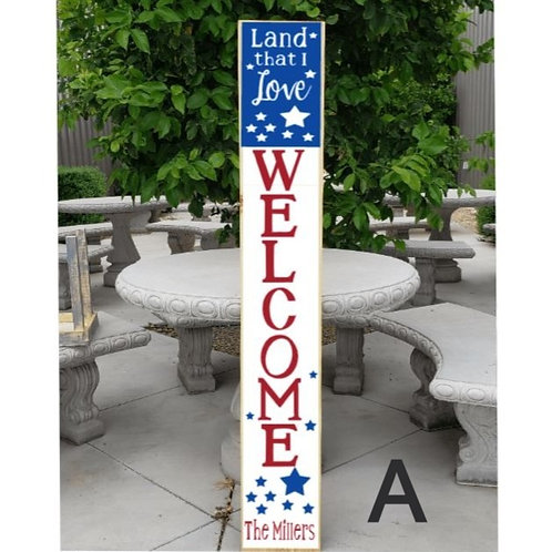 Land that I Love (porch board) (Starting at $40.00)