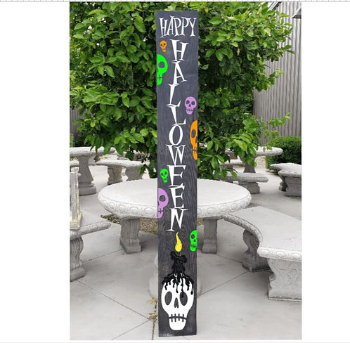 Candy Skull Halloween Porch Board (Starting at $50.00)