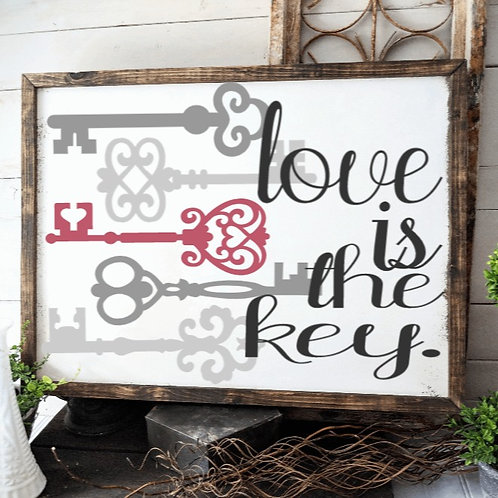 DIY: Love is the key (11x14)
