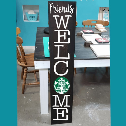 DIY: Friends Welcome Porch Board (starting at $30.00)